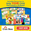 Evan-Moor flashcards and worbooks