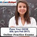 CEOE English as a Second Language pre Feb 2017 5-Test Bundle