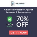 50pc off on Heimdal Security