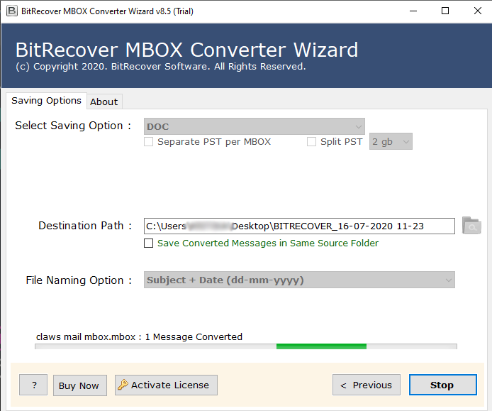 BitRecover MBOX Converter - Pro License Upgrade